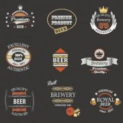 Link toVintage royal beer labels with badges vector 03 free
