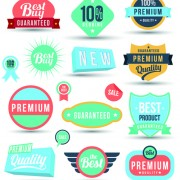Link toVintage sale badges and label with stickers vector free