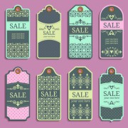 Link toVintage sale tags creative design set 01 free