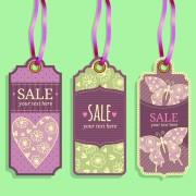 Link toVintage sale tags creative design set 03 free