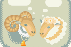 Link toVintage sheep speech bubble vector background