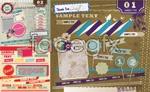 Link tovector corner folded stickers Vintage