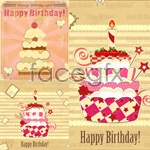Link toVintage style birthday card vector