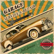 Link toVintage style car advertising poster vector 02 free