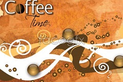 Link toVintage style coffee theme vector