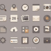 Link to02 psd icons flat style Vintage