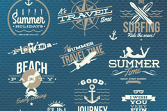 Vintage summer beach logo vector