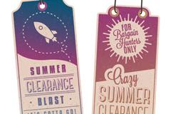 Link toVintage summer discount sale tag vector