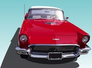 Link toVintage thunderbird vector free