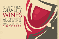 Link toVintage wine posters vector
