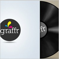 Vinyl cover free psd template