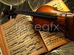 Link toViolin and sheet music psd