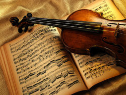 Link toViolin music using picture material