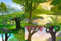Link toVirgin forest vector