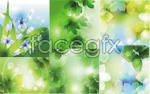 Link toVisionary plants background vector