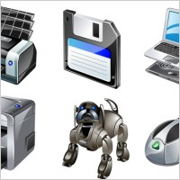Link toVista computer gadgets icons icons pack