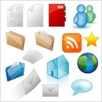 Link toVista style icon vector