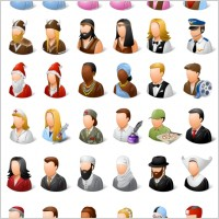 Link toVista style people icons set icons pack