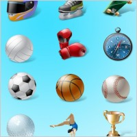 Link toVista style sport icon set icons pack