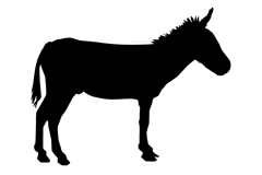 Link toVivid black donkey silhouette vector