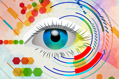 Link toVogue painted eye background vector