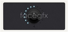 Link toVolume rotary control button psd template