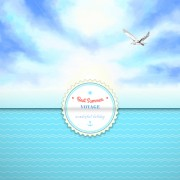 Link toVoyage best summer vector background 02 free