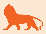 Link toWalking lion vector free