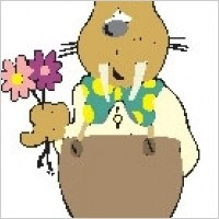 Link toWalrus with flowers