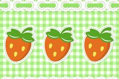 Walt strawberry plaid background vector