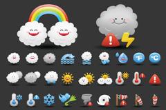 Walt weather icon vector