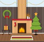 Link toWarm christmas living room vector