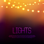 Link toWarm holiday lights background vector