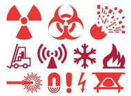 Link toWarning and hazard icons vector free