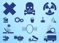 Link toWarning and hazard symbols vector free
