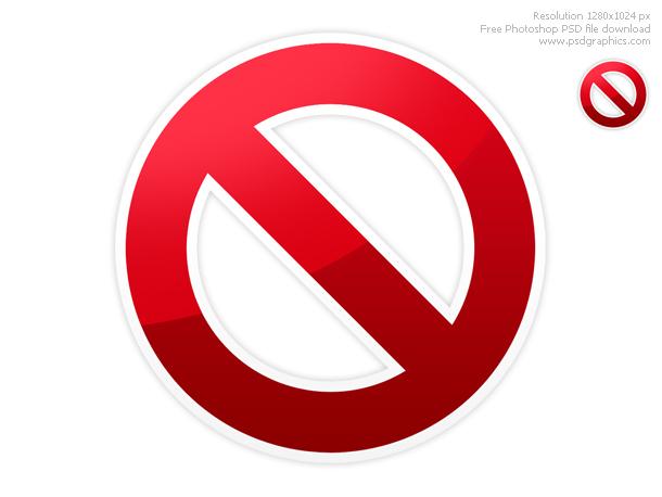 Link toWarning, stop and do not symbol psd