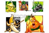 Link toWarrior of cartoon fruit image