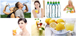 Link toWater and fruit juice pictures psd