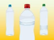 Water bottles vector free