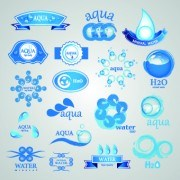 Link toWater logos creative design vector 06