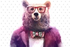 Link toWater painting bear head vector