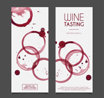 Link toWater painting wine tasting invitations vector