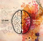 Link toWatercolor brain illustration vector