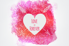 Link toWatercolor cupid love vector