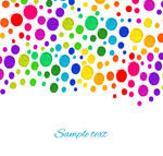 Link toWatercolor dots background vector