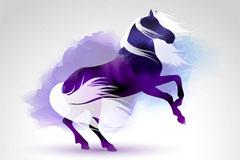 Link toWatercolor fantasy purple horse vector
