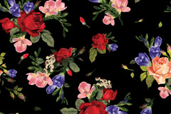 Link toWatercolor floral background vector