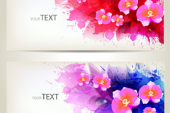 Link toWatercolor floral banner vector