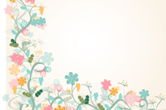 Link toWatercolor floral border background vector