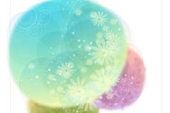 Link toWatercolor floral circle vector background
